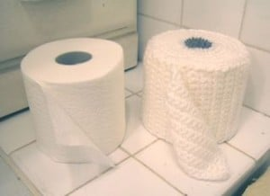 Crochet Toilet Paper Cover Pattern by Knit and Crochet Pattern Chat