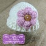 Preemie Flower Hat ~ Cream Of The Crop Crochet