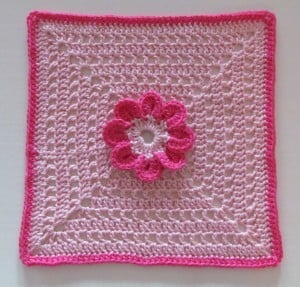 8-Petal Flower Afghan Square ~ Ambassador Crochet