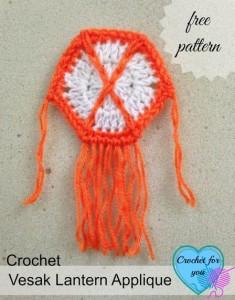 Vesak Lantern Applique ~ Erangi Udeshika - Crochet For You