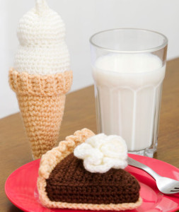 Chocolate Pie and Ice Cream ~ Michele Wilcox - Red Heart