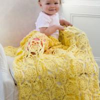 Sunshine Baby Blanket ~ Ellen Gormley – Red Heart Yarns