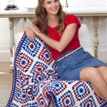 Colors of America Throw ~ Martha Brooks Stein – Red Heart