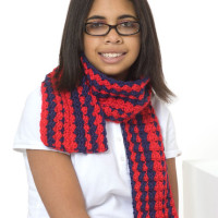 Be Proud Scarf ~ Sharon Mann – Red Heart