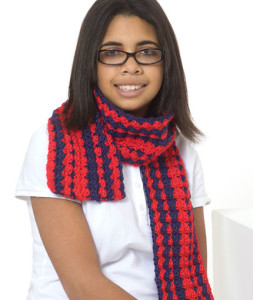 Be Proud Scarf ~ Sharon Mann - Red Heart