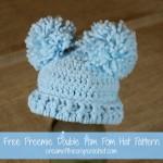 Preemie Double Pom Pom Hat ~ Cream Of The Crop Crochet