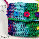 Children's Rainbow Purse ~ Oombawka Design