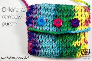 Children's Rainbow Purse ~ Oombawka Design