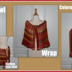 Colorado Sunset Wrap Shawl ~ Sara Sach - Posh Pooch Designs