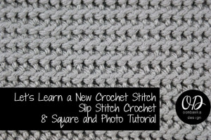 Slip Stitch Crochet Square ~ Oombawka Design