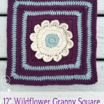 12″ Wildflower Granny Square No. 1 ~ Rebecca Langford – Little Monkeys Crochet