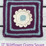 "12"" Wildflower Granny Square No. 1 ~ Rebecca Langford - Little Monkeys Crochet"