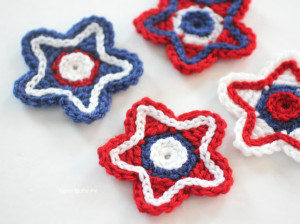 Patriotic Crochet Stars ~ Repeat Crafter Me