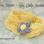 Lacy Shells Headwarmer – Kid Size ~ Alli Crafts