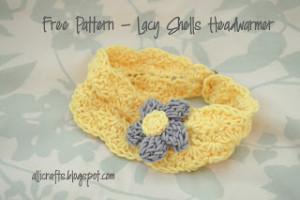 Lacy Shells Headwarmer - Kid Size ~ Alli Crafts