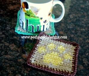 Paw Print Coaster ~ Sara Sach - Posh Pooch Designs