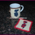 Neck Tie Coaster and Cozy ~ Sara Sach - Posh Pooch Designs