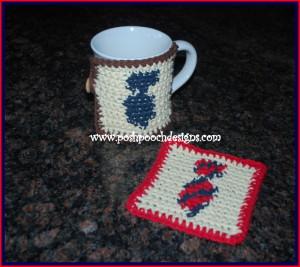 Neck Tie Coaster and Cozy ~ Sara Sach - Posh Pooch Designs