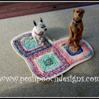 Heart Shaped Dog Rug Pet Mat ~ Sara Sach - Posh Pooch Designs