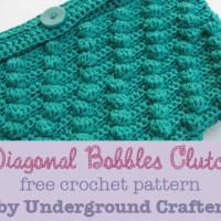 Diagonal Bobbles Clutch ~ Underground Crafter