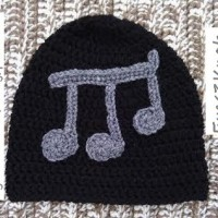 Crochet Adult Black Beanie in Rhythm ~ EyeLoveKnots