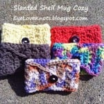 Crochet Slanted Shell Coffee Mug Cozy ~ Alexandra Richards - EyeLoveKnots