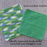Chad's Emerald Washcloths in 2 Sizes ~ EyeLoveKnots