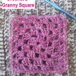 How to Crochet a Granny Square with Photo Tutorial ~ EyeLoveKnots