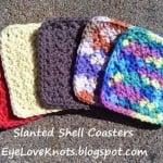 Slanted Shell Coasters ~ Alexandra Richards – EyeLoveKnots
