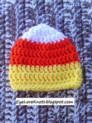 Preemie Candy Corn Hat Free Crochet Pattern