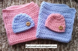 Pink & Blue Twin Mini Blanket Set ~ EyeLoveKnots