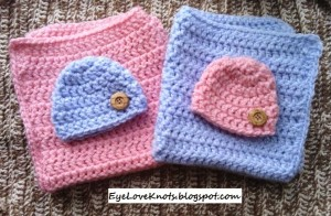 Pink & Blue Twin Mini Blanket Set ~ EyeLoveKnots