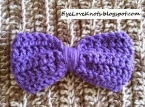 Large Lavender Solid Hair Bow ~ Alexandra Richards - EyeLoveKnots