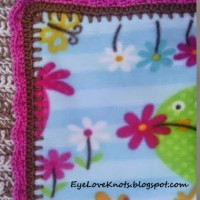 Edging for Anti Pill Fleece Girl Toddler Blanket ~ EyeLoveKnots