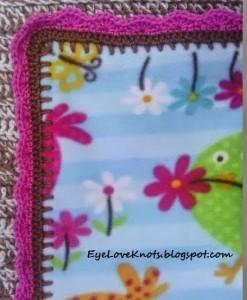 Edging for Anti Pill Fleece Girl Toddler Blanket ~ EyeLoveKnots