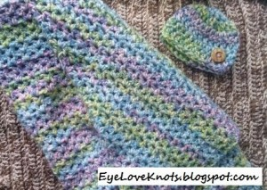 Chunky Baby Blanket and Hat Set ~ EyeLoveKnots