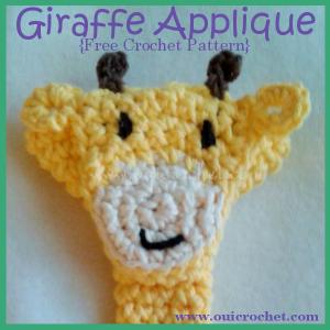 Giraffe Applique ~ Oui Crochet