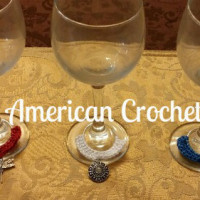 Girlie Patriotic Wine Glass Charms ~ American Crochet