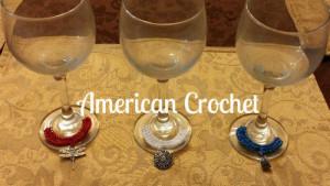 Girlie Patriotic Wine Glass Charms ~ American Crochet