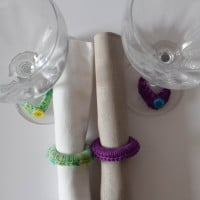 "Girls' Night In Napkin Rings and Wine Glass ""Charms"" ~ Marie Segares - Underground Crafter"
