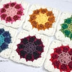 Crochet Dahlia Squares ~ Repeat Crafter Me