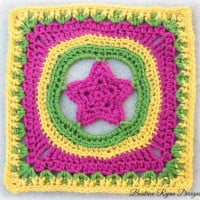 Granny's Shining Star Square ~ Beatrice Ryan Designs