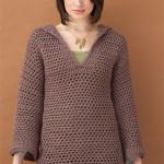 Hooded Pullover Crochet Pattern ~ Lion Brand Yarn – Favecrafts