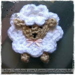 Sheep Applique ~ Damn it Janet, Let's Crochet!