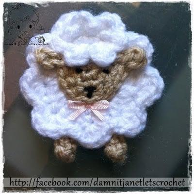 Sheep Applique Free Crochet Pattern