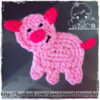 Piggy Applique ~ Damn it Janet, Let's Crochet!