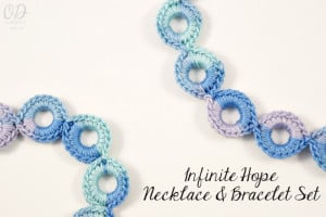 Infinity Hope Necklace and Bracelet Set ~ Oombawka Design