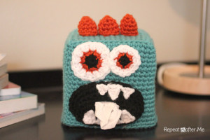 Crochet Monster Kleenex Box Cover ~ Repeat Crafter Me
