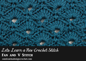 Fan and V Stitch Afghan Square ~ Oombawka Design