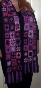 Purple Haze 'Mini Granny Square Scarf' ~ Lucy 'In the Sky'